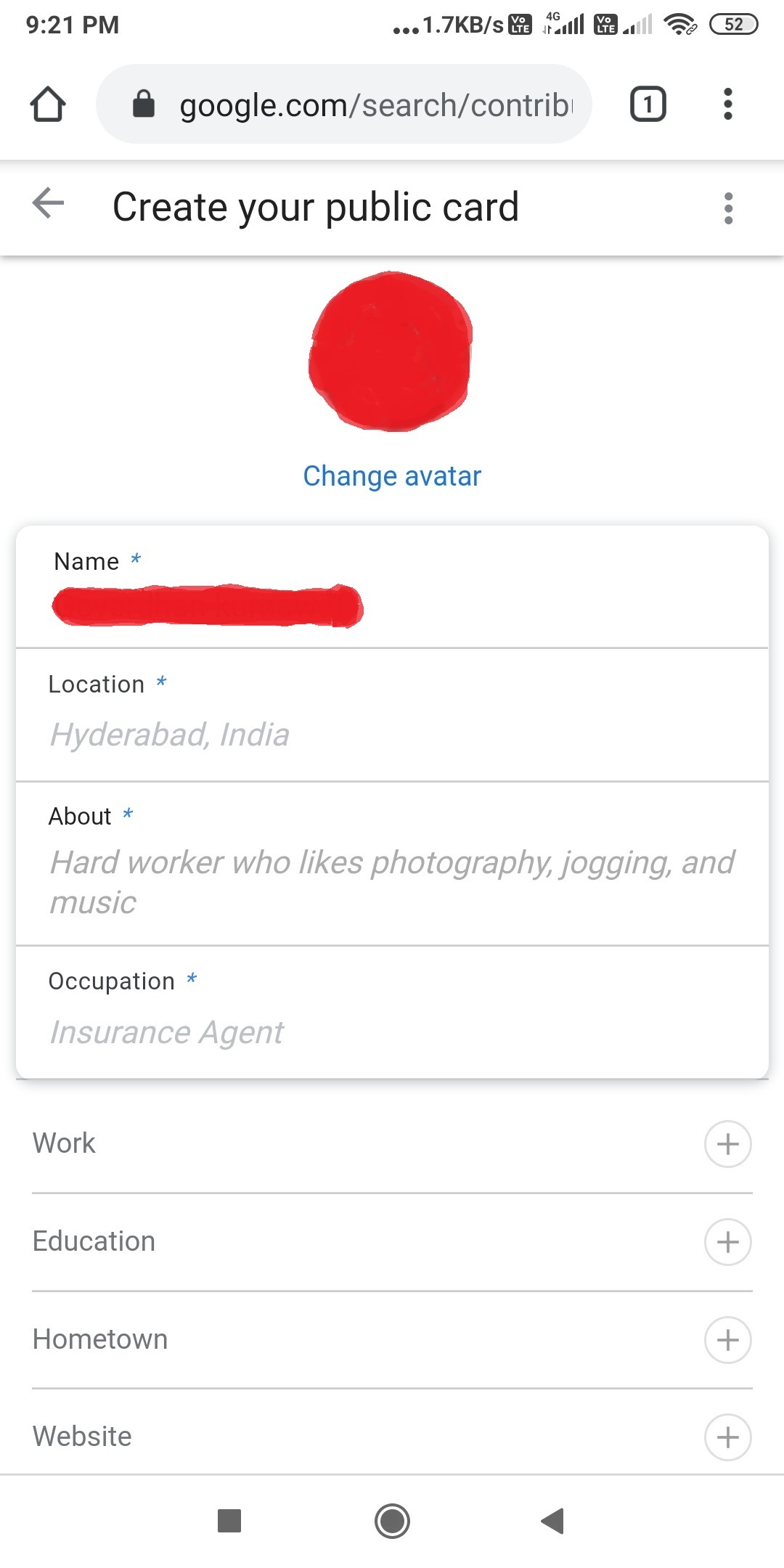 How to Add to me search
